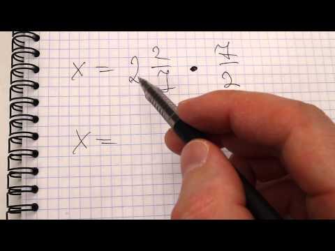 Деление обычных дробей в уравнениях