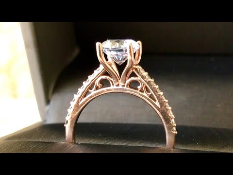 Modern Rose Gold Engagement Ring