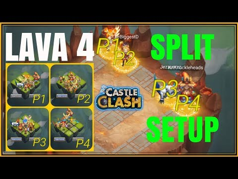 LAVA 4 SPLIT DROP SETUP - CASTLE CLASH