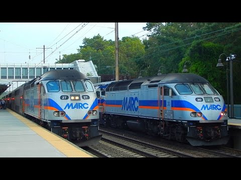 MARC Commuter Rail & Amtrak: Rail Observations at BWI Airport Station