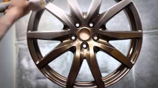 Video Nissan GTR Wheels Powder Coating in Bronze download MP3, 3GP, MP4, WEBM, AVI, FLV Juli 2018