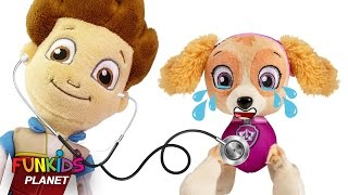 Learn Colors Videos For Children: Paw Patrol GET SICK Go To DOCTOR Chase, Marshall & Skye
