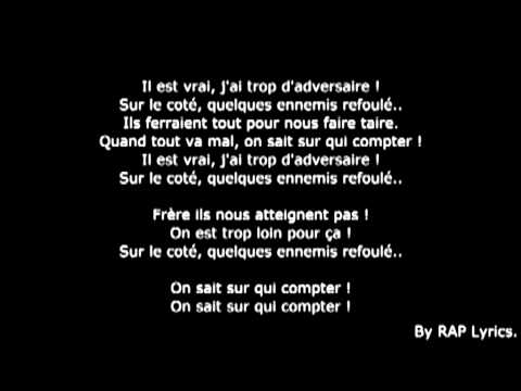 la fouine -team bs vrais frères paroles ft sindy-sultan fababy lyrics new 2014