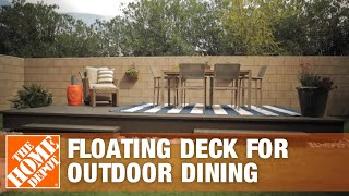 Floating Deck Decorated For Outdoor Dining