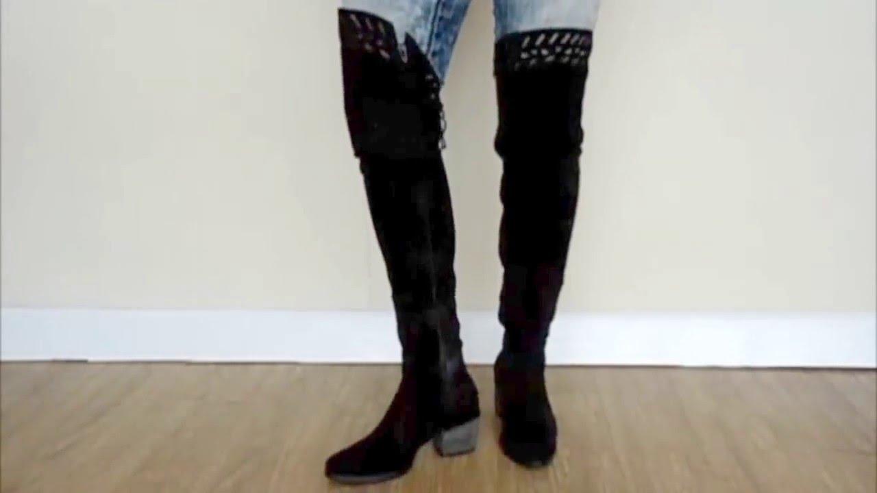 00b9bc5d7 bota cano longo preto tanara - YouTube