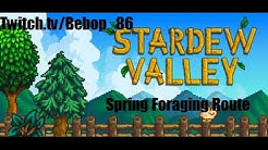 Stardew Valley Spring Foraging Route