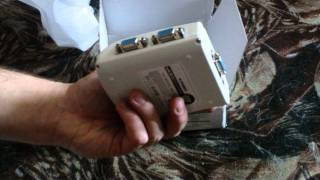 4-Port 250MHz VGASVGAXGAMultisync Video Splitter (White)