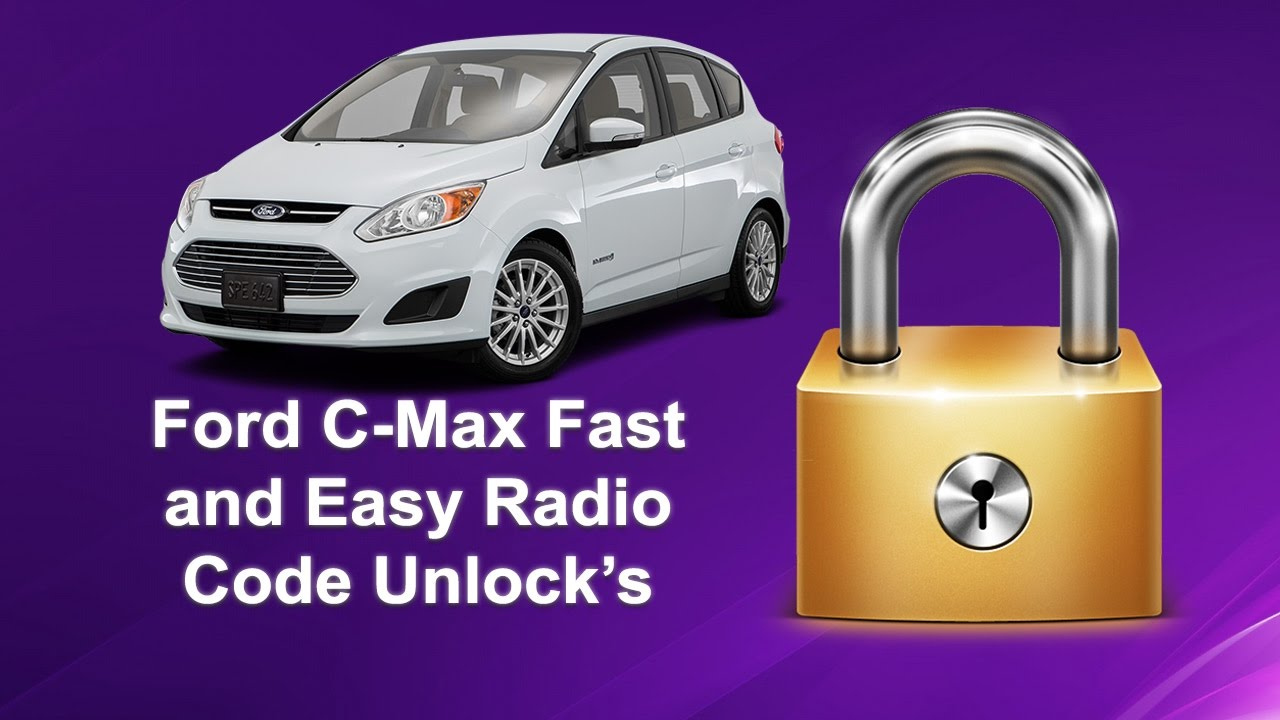 How To Find Your Ford C Max Radio Code Serial V Code All Model S