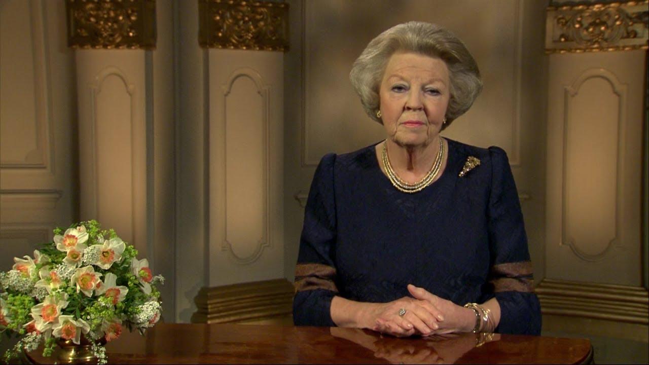 Toespraak Koningin Aan De Vooravond Van Haar Abdicatie