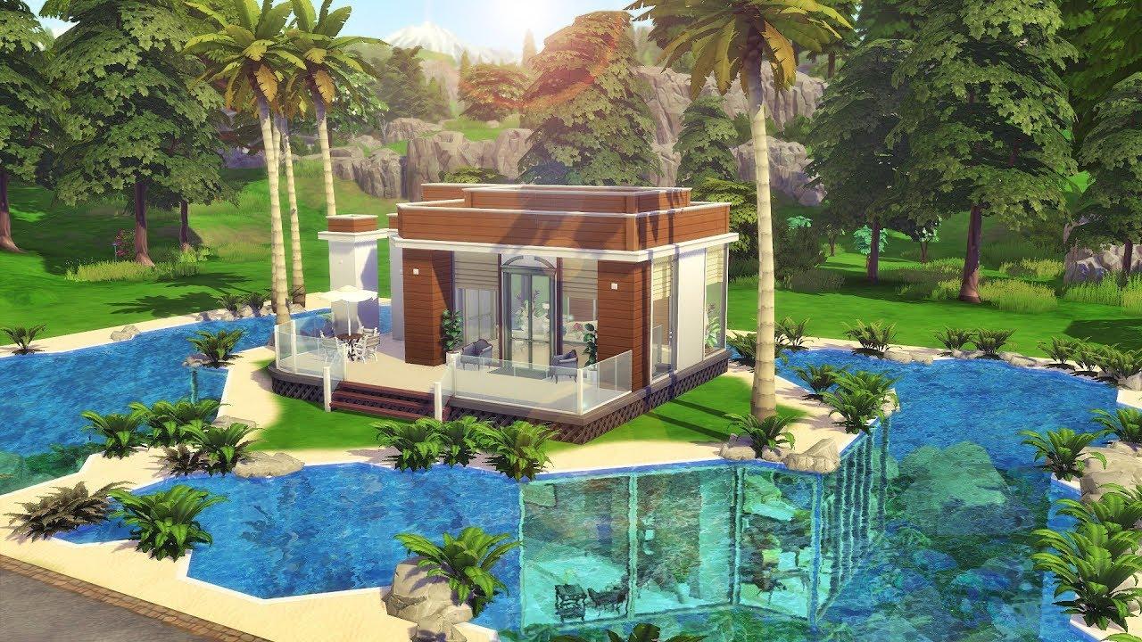Construindo uma casa submersa the sims 4 speed build for Sims 4 modelli di casa moderna