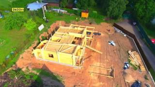 видео Строительство дома из клееного бруса: этапы работ