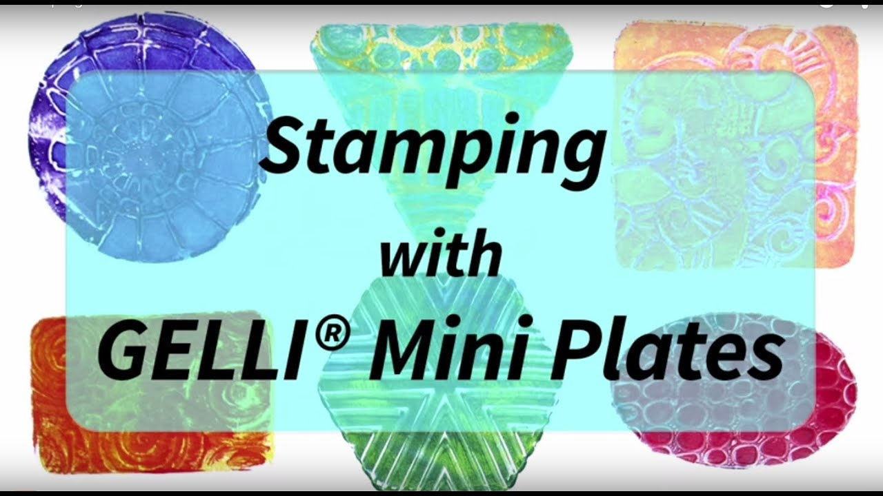 Stamping with new gelli arts mini plates youtube baditri Gallery
