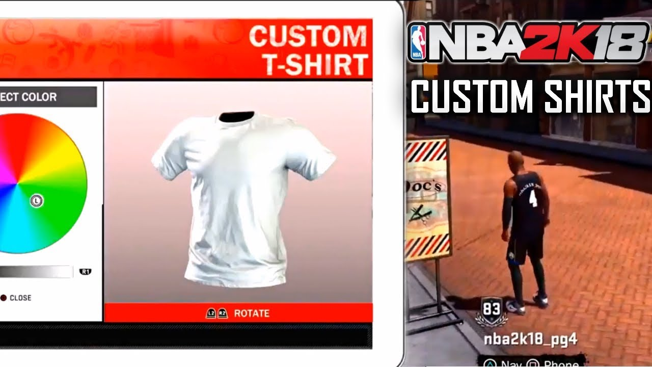 afcf201f4 NBA 2K18 Custom T-Shirts! BAPE, GUCCI, Etc + Park Gameplay! - YouTube