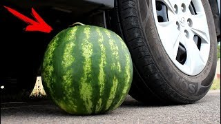 EXPERIMENT: CAR VS WATERMELON thumbnail