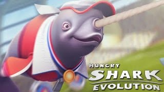Hungry Shark Evolution - Открываю Новую Акулу НАРВАЛ НАТАША (Natasha the Nerwhal)
