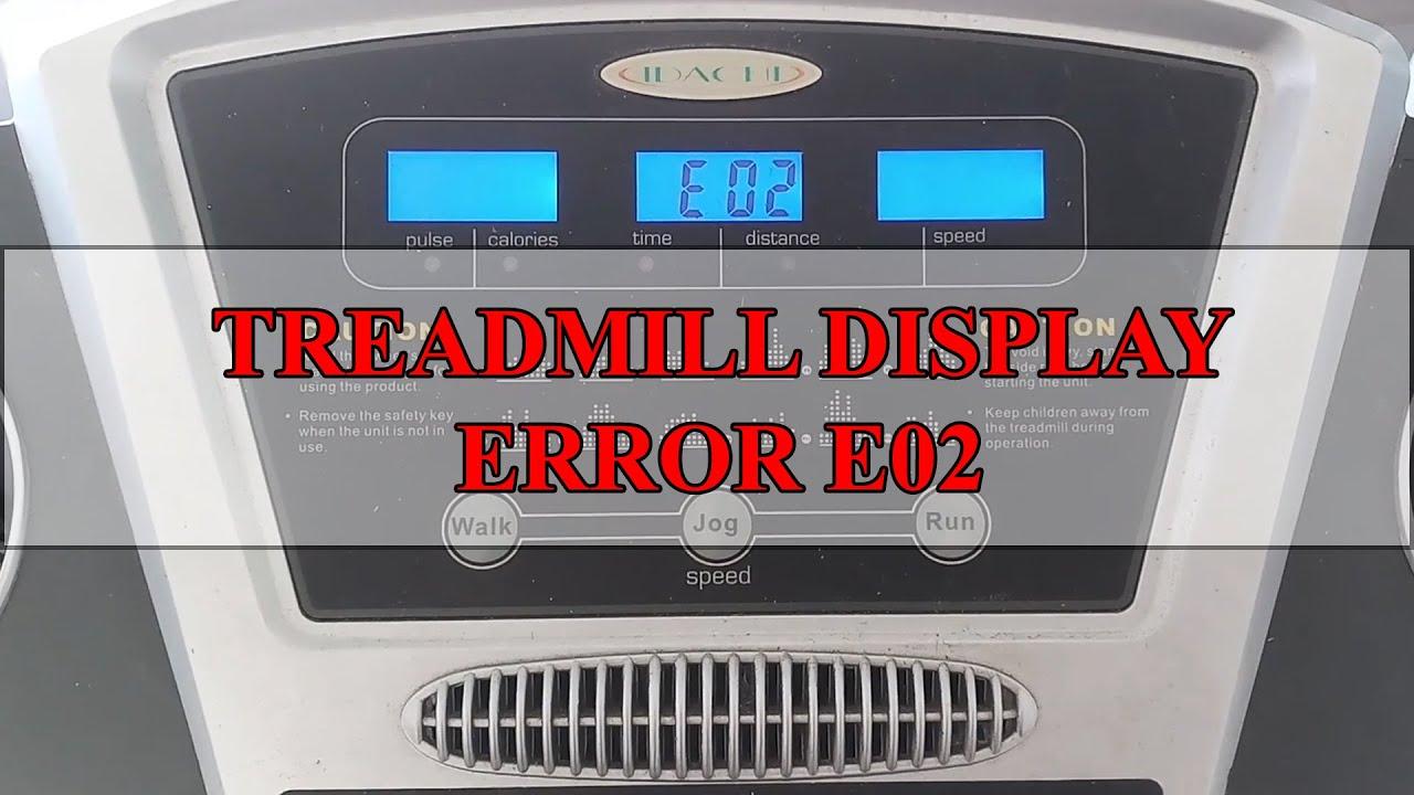 Download Repair Treadmill Error Code E02 | Control Board Faulty