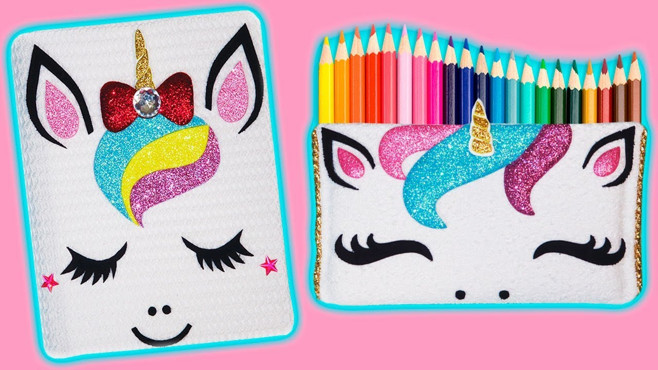 69be953fd 🌈🦄 DIY: Cuaderno y Estuche o Lapicera de Unicornio || #RainboWeek ...