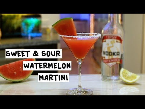 Sweet And Sour Watermelon Martini