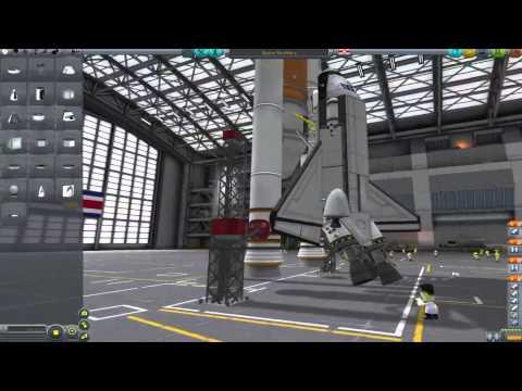 Kerbal Space Program Space Shuttle Replica - YouTube