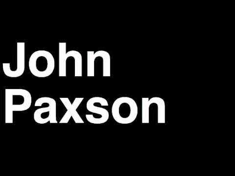 How to Pronounce John Paxson Chicago Bulls NBA Basketball GM General Manager Interview Fired