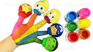Children Body Paint Finger Family Nursery Rhymes Princess Super Heroes Toys Fun & Creative for Kids