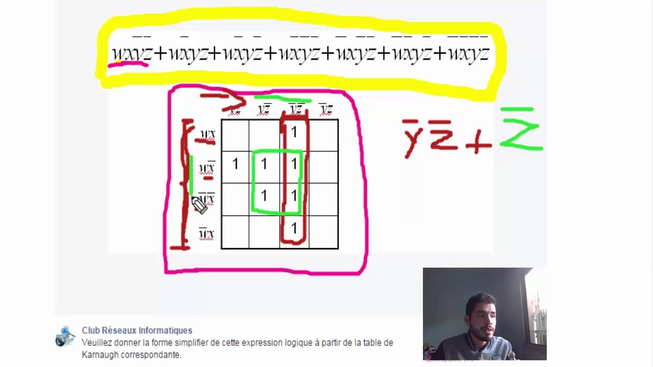 Exercice Avec Correction Equation Avec Tableau Karnaugh Darija Youtube