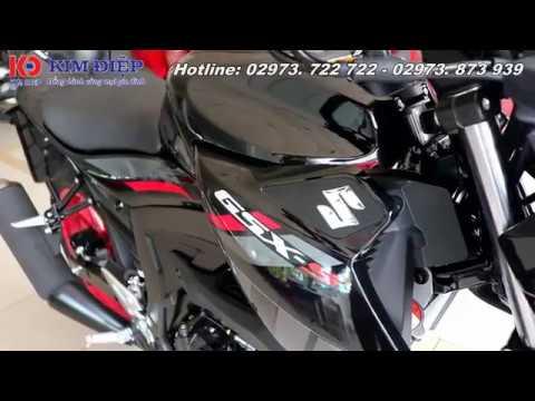 Cận cảnh Suzuki GSX-S150 2018 màu đen bóng tem mới cực chất 😎