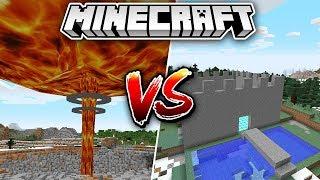 ATOM BOMBASI VS YER ALTI EVİ - Minecraft
