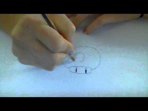 Comment dessiner un champignon mario youtube - Dessiner un champignon ...