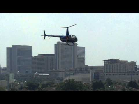 Helicopter Flies Over Bobby Dodd