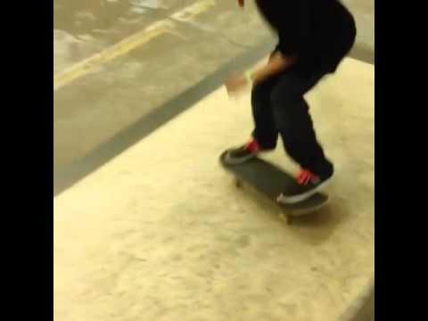 Skateboard at The Bay. Lincoln Nebraska. Skate mashup