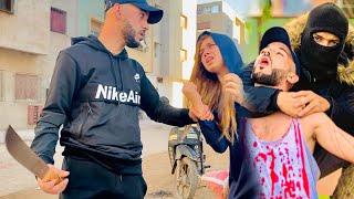 فيلم قصير : أخطر عنصر 😱في الدار البيضاء يتحدى شرطة في اخير نهايته حزينة😢