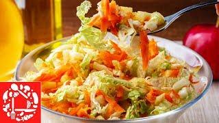 Быстрый Салат Без Майонеза из пекинской капусты на каждый день. Очень Вкусно и Просто.