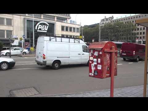 ベルギー郵便ポストと路面電車 Post-box Tram Brussels