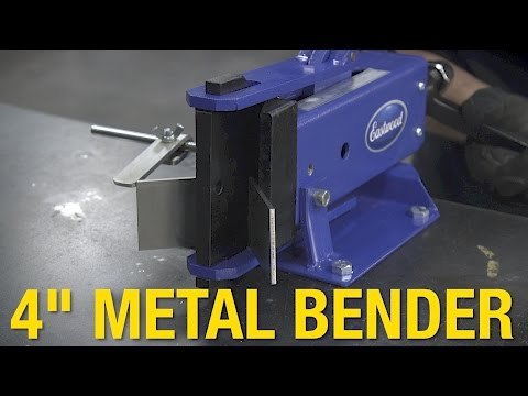 """Compact Metal Bender Can Bend Metal up to 3/8"""" Thick or Up to 4"""" Wide - 4"""" Metal Bender - Eastwood"""