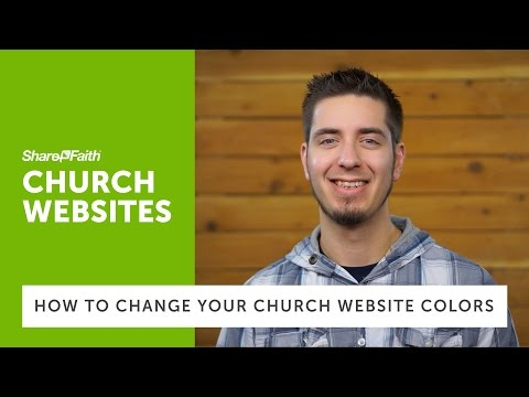 Church Websites - How to Change Your Church Website Colors | Sharefaith.com