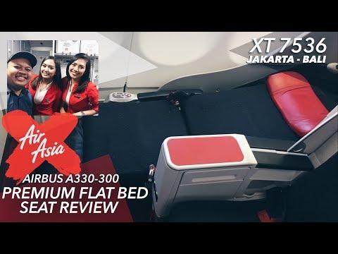 Indonesia AirAsia X Airbus A330   FLIGHT VLOG XT7536 Jakarta To Bali!