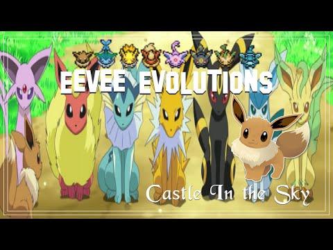♛ Eevee Evolutions  Castle in the Sky ♛