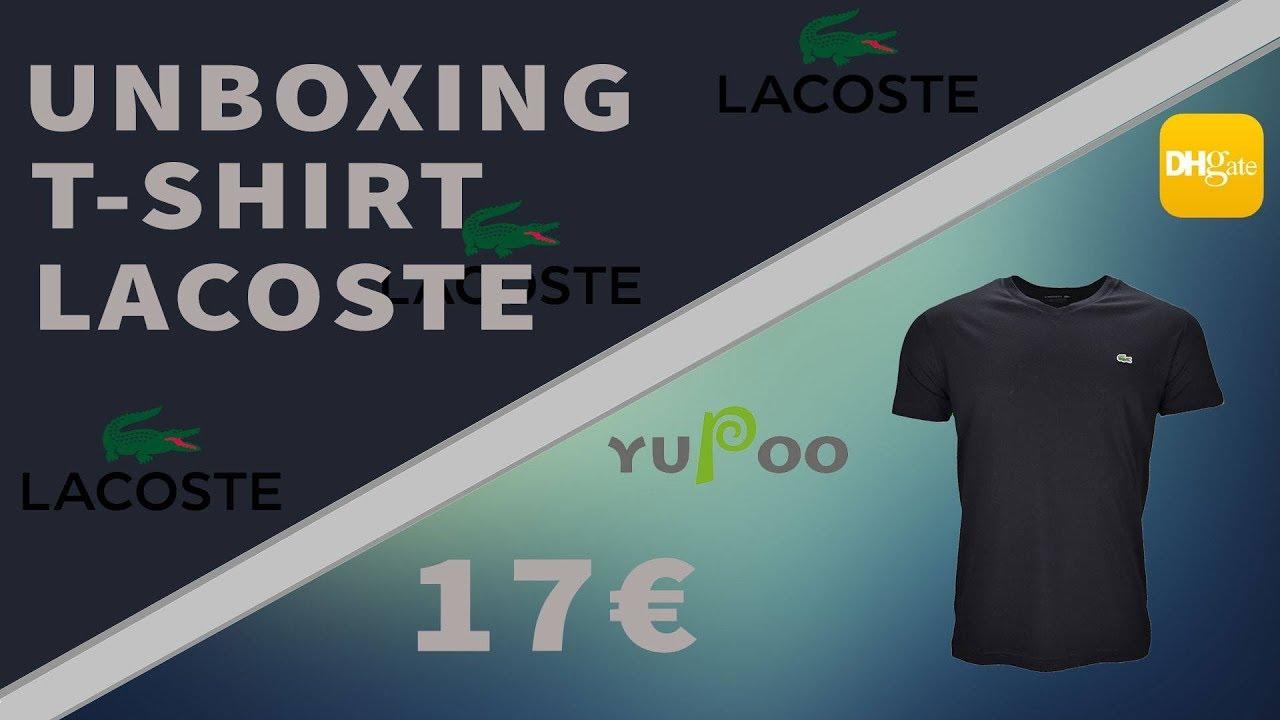 zamówienie niepokonany x różne kolory UNBOXING | Déballage T-SHIRT LACOSTE PAS CHER (faithkeybiz)(yupoo)