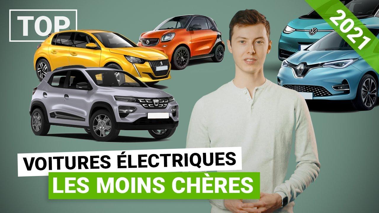 Le TOP 10 des voitures électriques les moins chères en 2021