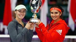 2015 WTA Finals Doubles Final WTA Highlights | Hingis/Mirza vs Muguruza/Suarez Navarro