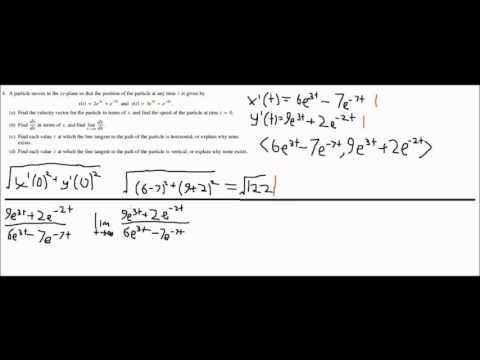 AP Calculus BC AP Test Question 4 2003 Form B - YouTube