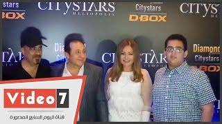 ليلى علوى وحسين فهمى ومحمد سعد والصاوى فى افتتاح سينما diamond