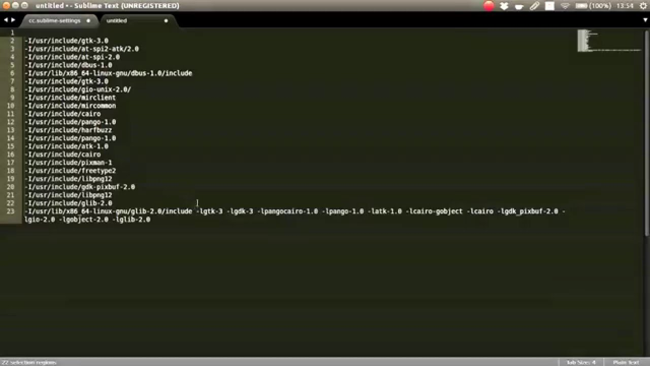 Sublime Text 3 Clang complete Installation