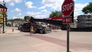 Oversize load tight turn