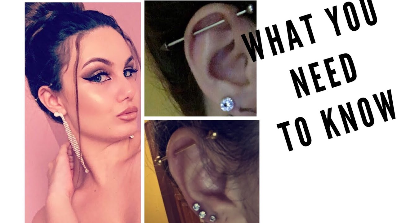 All About An Industrial Piercing Experience Pain Aftercare Youtube