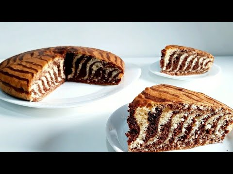 gâteau-marbré-zébré-|-كيكة-الحمار-الوحشي-|-zebra-cake-recipe
