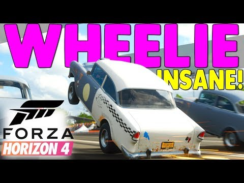HOW TO WHEELIE IN FORZA HORIZON 4 !! (Insane Wheelies!) FH4 Wheelie Car Tutorial!
