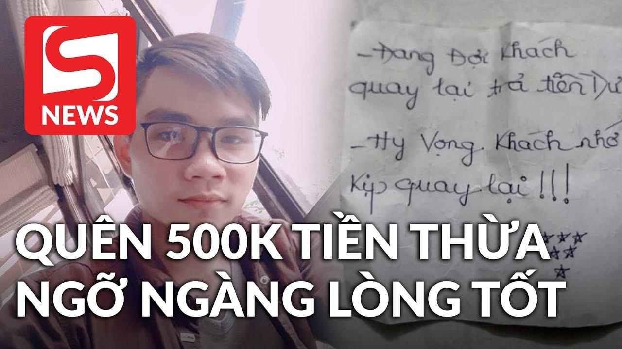 Quên lấy 500.000đ tiền thừa, chàng shipper ngỡ ngàng lòng tốt của chủ quán