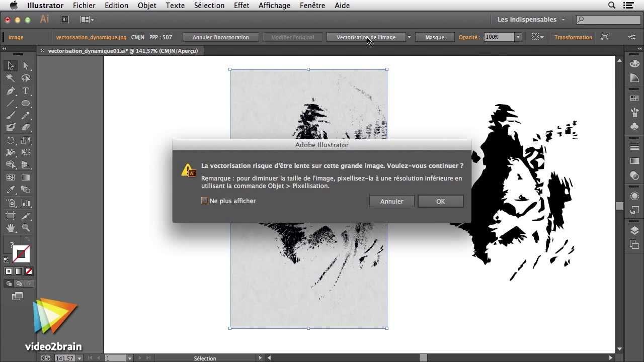 Tutoriel Illustrator Cc Vectorisation Automatique Video2braincom
